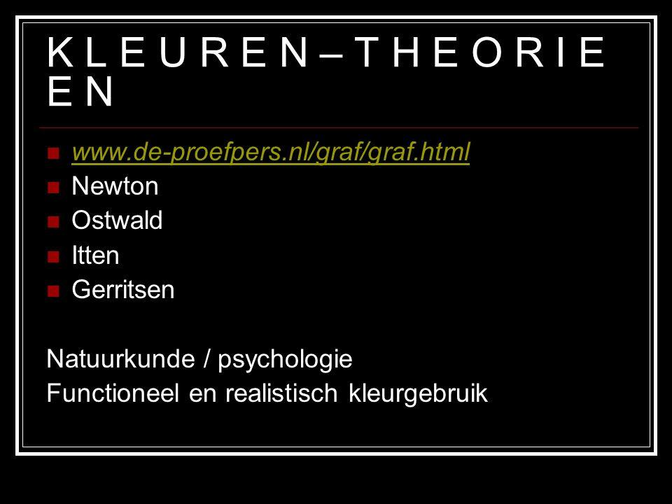 K L E U R E N – T H E O R I E E N www.de-proefpers.nl/graf/graf.html