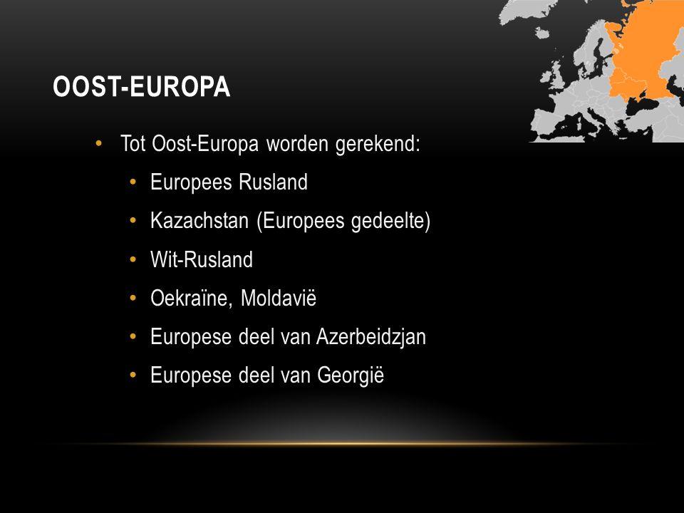 Oost-Europa Tot Oost-Europa worden gerekend: Europees Rusland