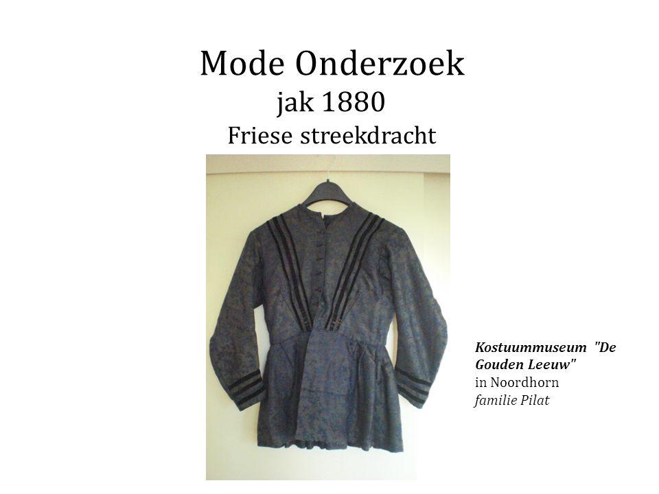 Mode Onderzoek jak 1880 Friese streekdracht