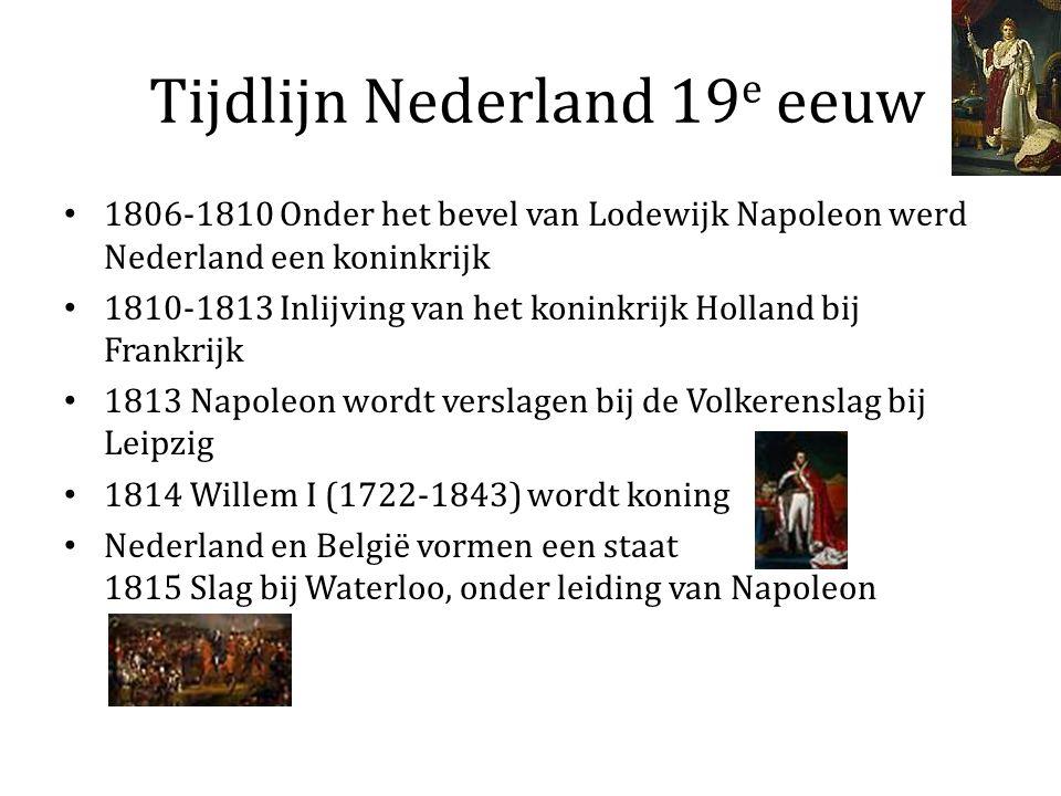 Tijdlijn Nederland 19e eeuw