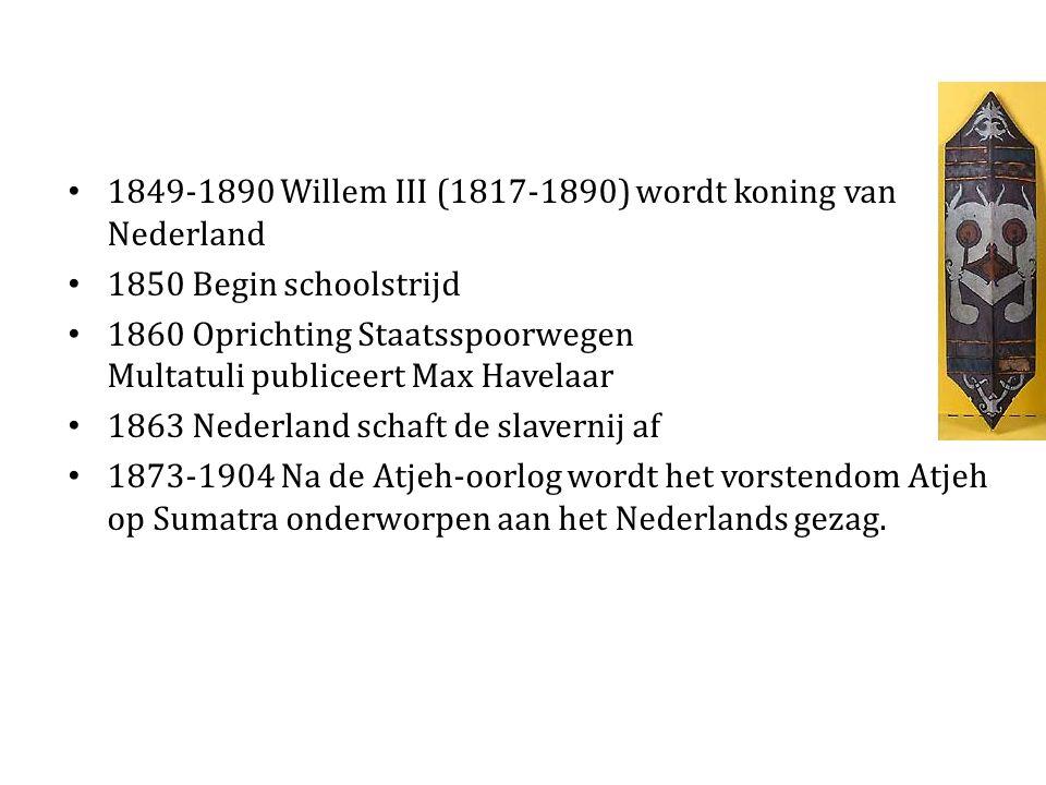 1849-1890 Willem III (1817-1890) wordt koning van Nederland