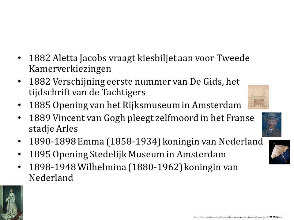 1882 Aletta Jacobs vraagt kiesbiljet aan voor Tweede Kamerverkiezingen