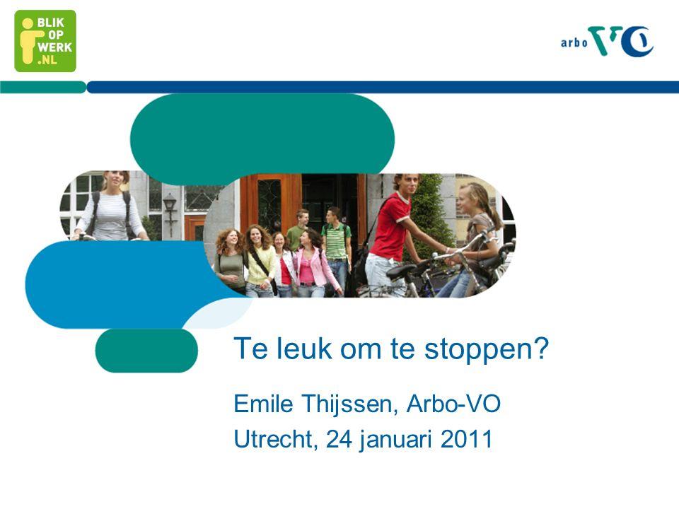 Emile Thijssen, Arbo-VO Utrecht, 24 januari 2011
