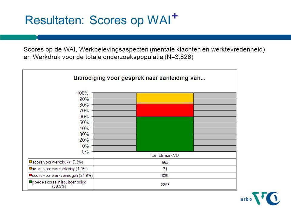 Resultaten: Scores op WAI