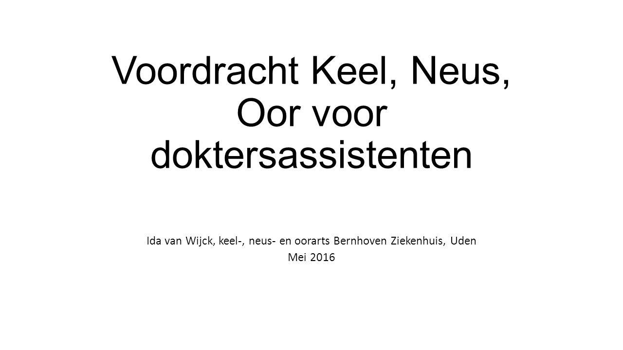 Voordracht Keel, Neus, Oor voor doktersassistenten