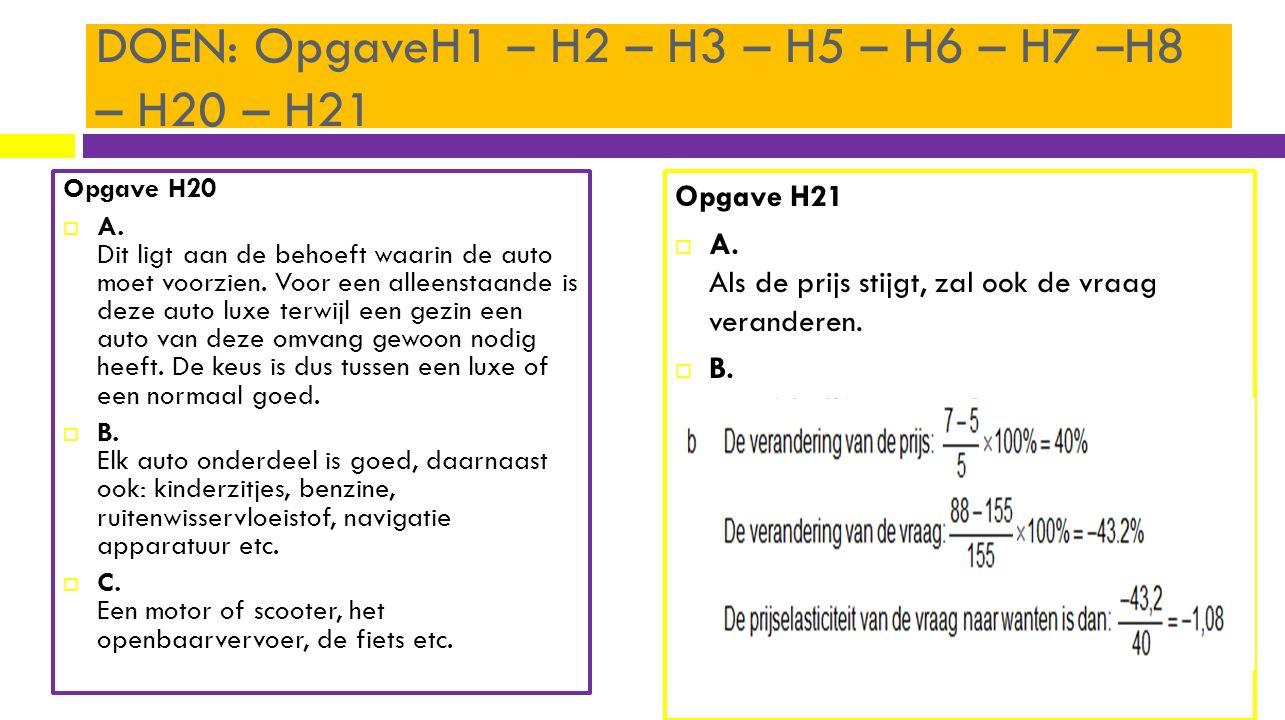 DOEN: OpgaveH1 – H2 – H3 – H5 – H6 – H7 –H8 – H20 – H21