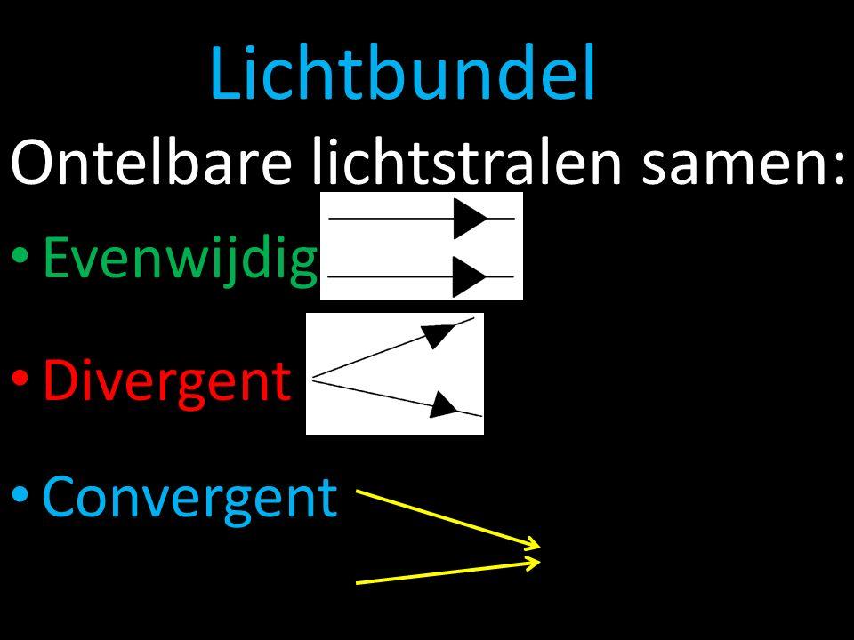 Lichtbundel Ontelbare lichtstralen samen: Evenwijdig Divergent