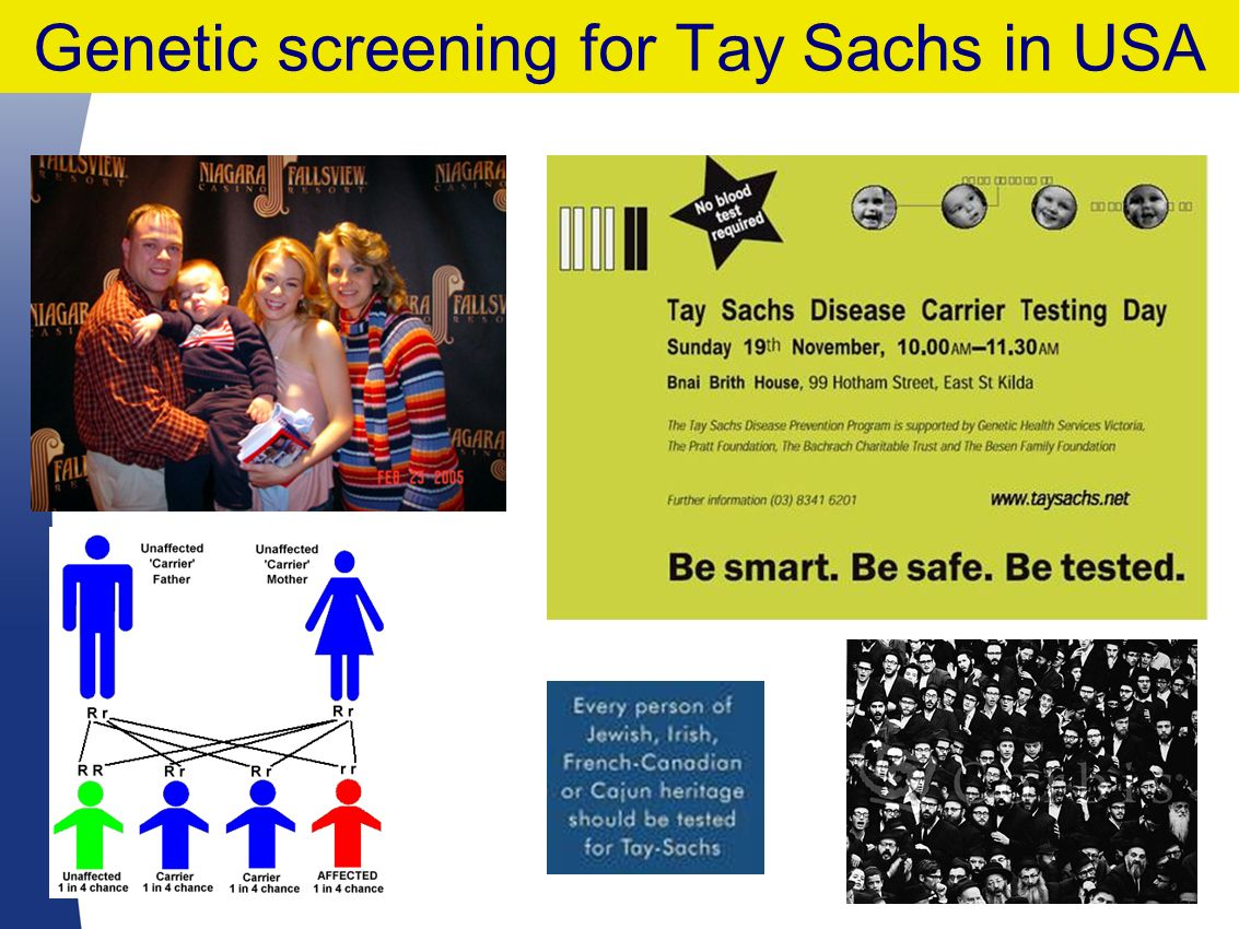 Genetic screening for Tay Sachs in USA