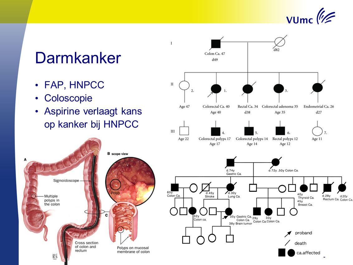 Darmkanker FAP, HNPCC Coloscopie