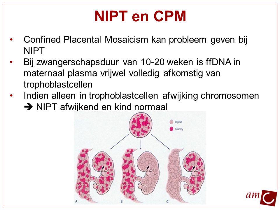 NIPT en CPM Confined Placental Mosaicism kan probleem geven bij NIPT
