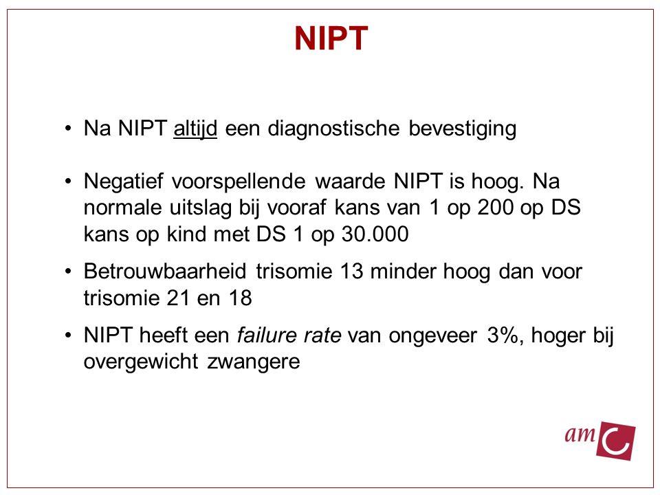 NIPT Na NIPT altijd een diagnostische bevestiging