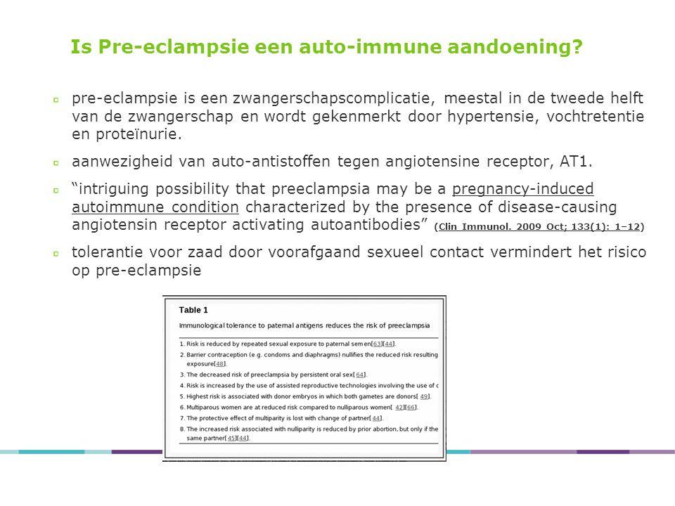Is Pre-eclampsie een auto-immune aandoening