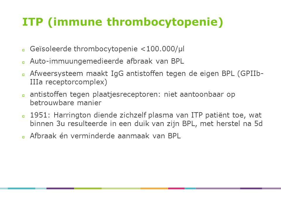 ITP (immune thrombocytopenie)