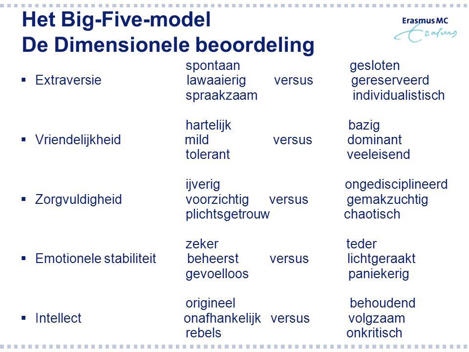 Het Big-Five-model De Dimensionele beoordeling