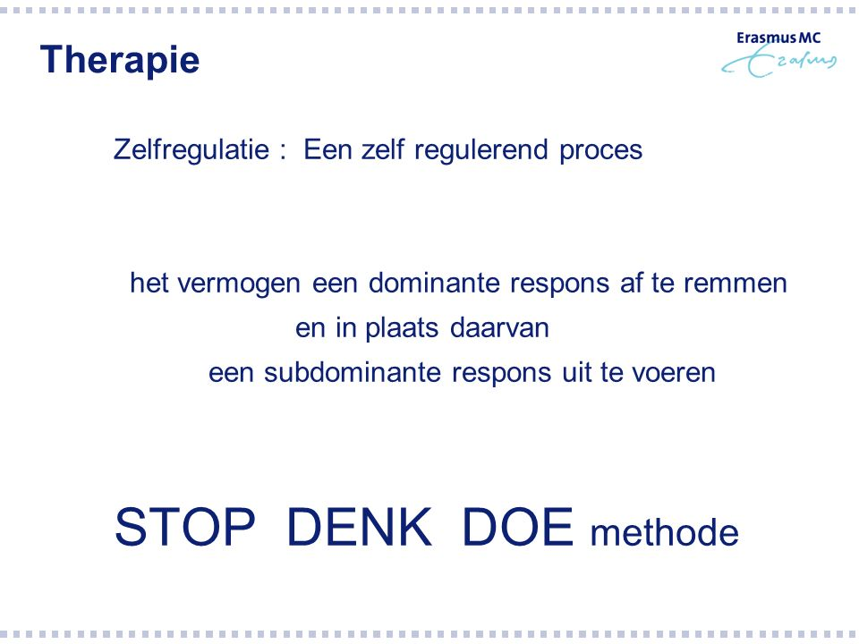 STOP DENK DOE methode Therapie