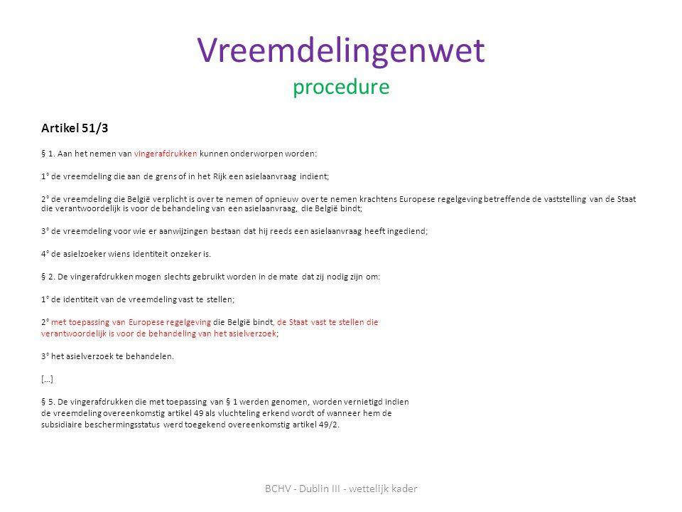 Vreemdelingenwet procedure