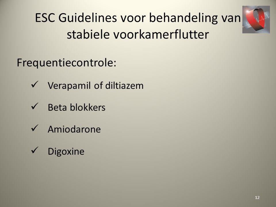 ESC Guidelines voor behandeling van stabiele voorkamerflutter