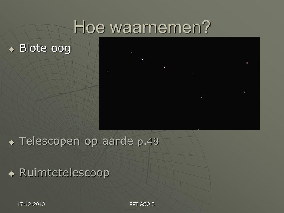 Hoe waarnemen Blote oog Telescopen op aarde p.48 Ruimtetelescoop