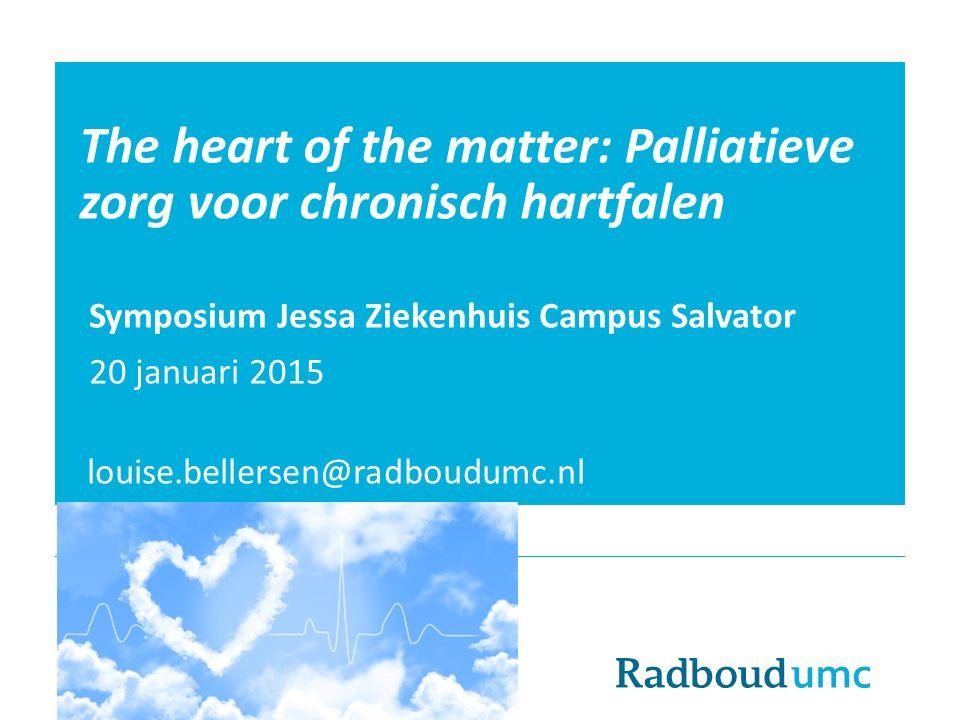 The heart of the matter: Palliatieve zorg voor chronisch hartfalen