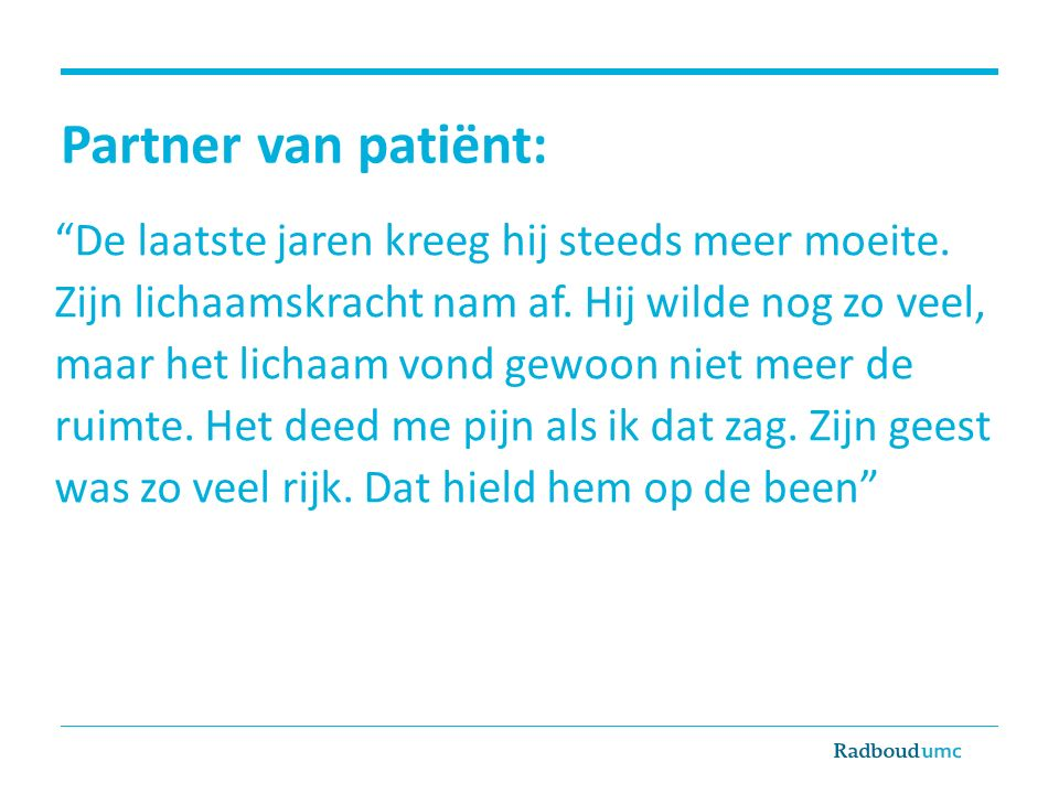 Partner van patiënt: