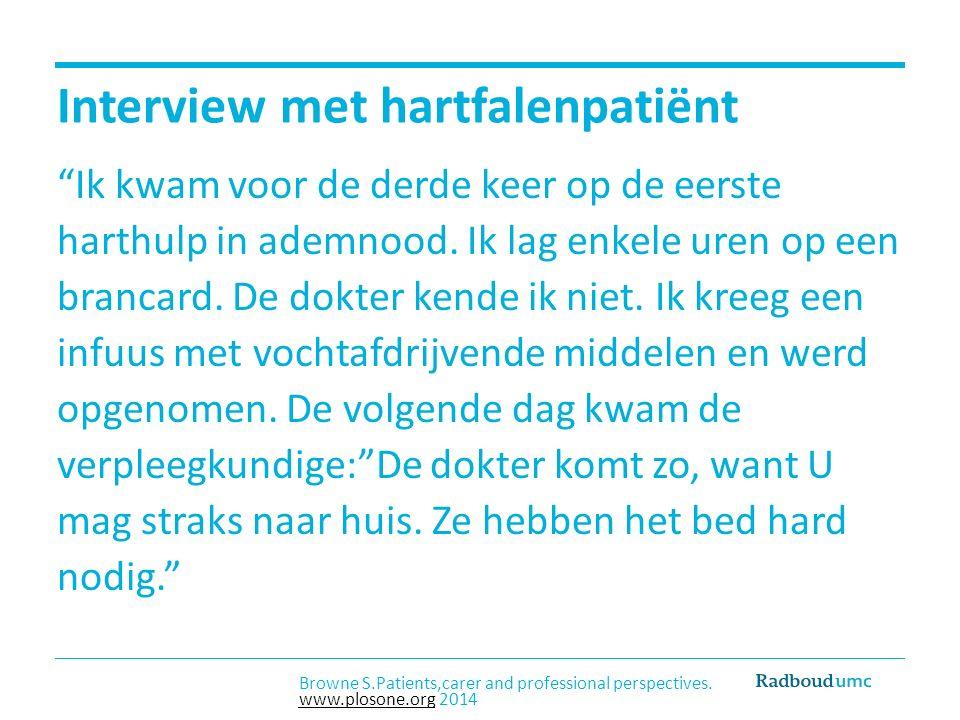 Interview met hartfalenpatiënt