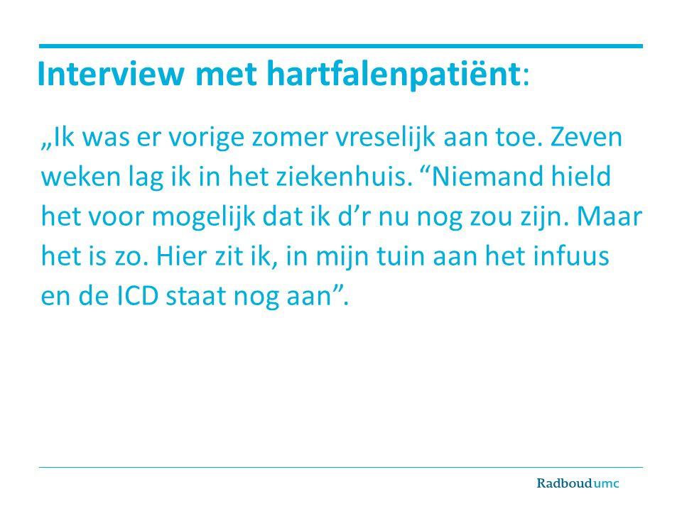Interview met hartfalenpatiënt: