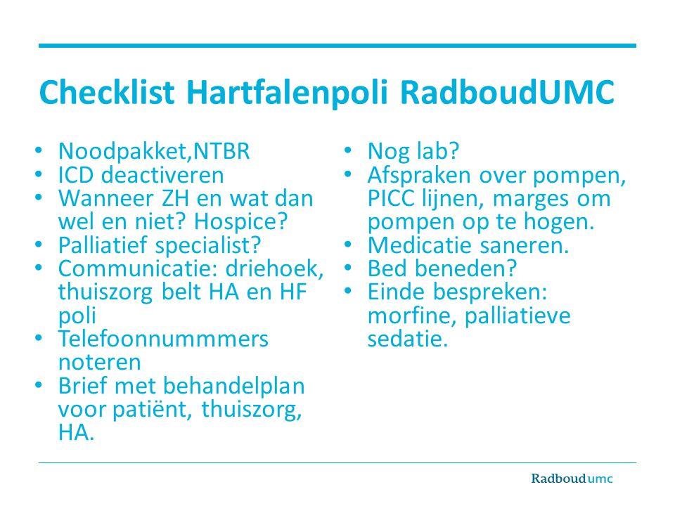 Checklist Hartfalenpoli RadboudUMC
