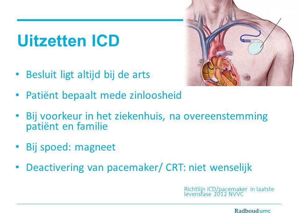 Uitzetten ICD Besluit ligt altijd bij de arts