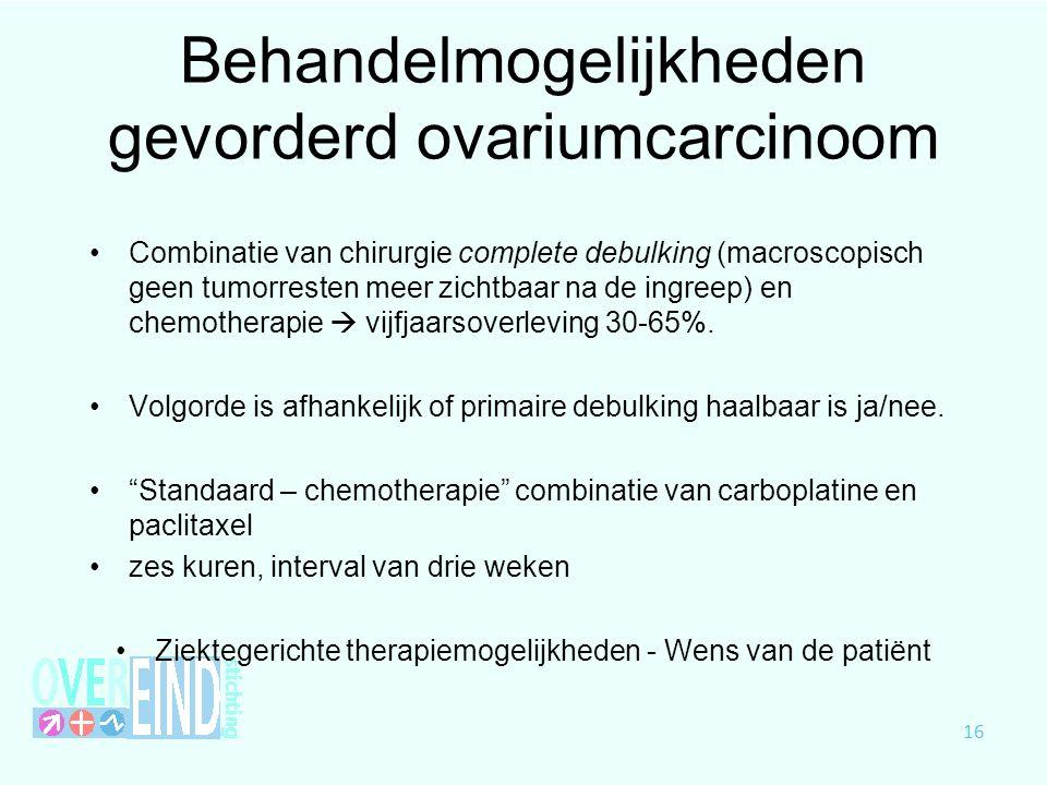 Behandelmogelijkheden gevorderd ovariumcarcinoom