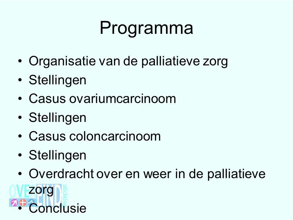 Programma Organisatie van de palliatieve zorg Stellingen