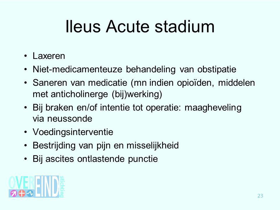 Ileus Acute stadium Laxeren