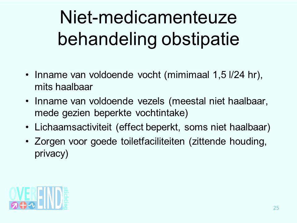 Niet-medicamenteuze behandeling obstipatie