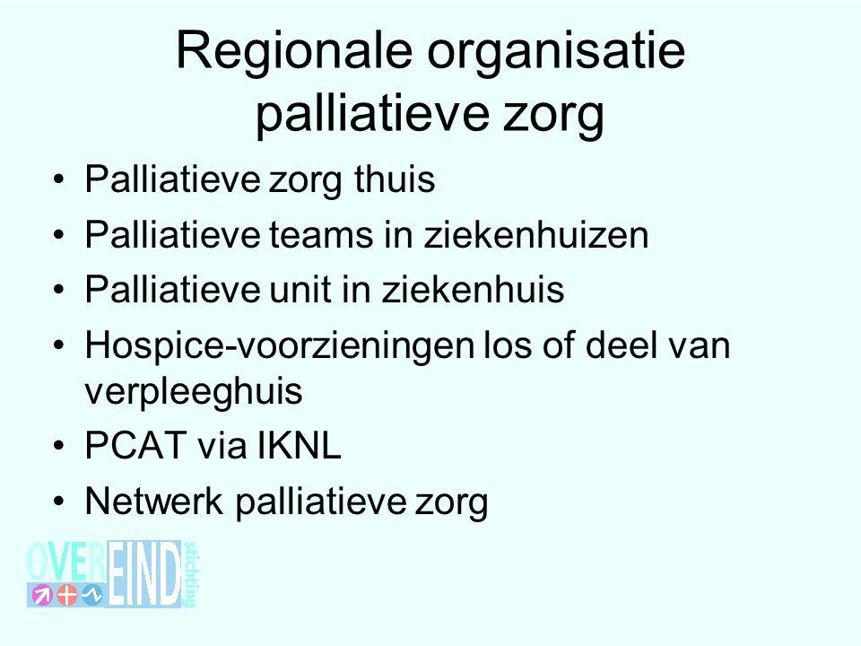 Regionale organisatie palliatieve zorg