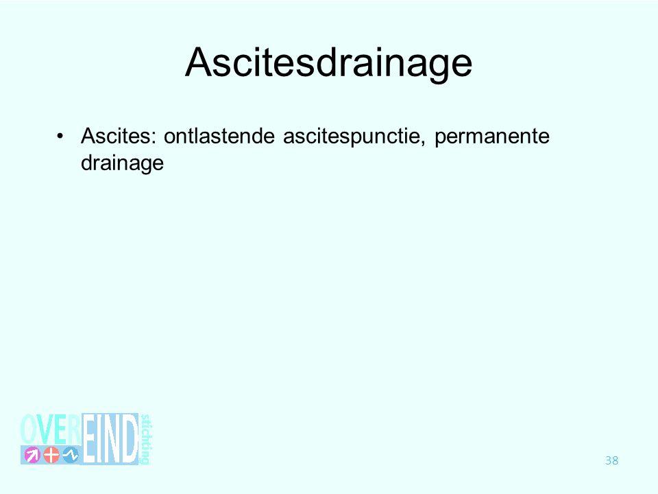 Ascitesdrainage Ascites: ontlastende ascitespunctie, permanente drainage