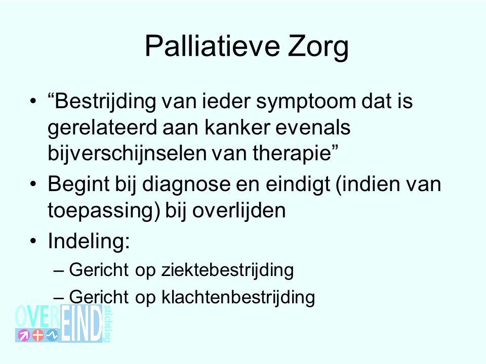 Palliatieve Zorg Bestrijding van ieder symptoom dat is gerelateerd aan kanker evenals bijverschijnselen van therapie