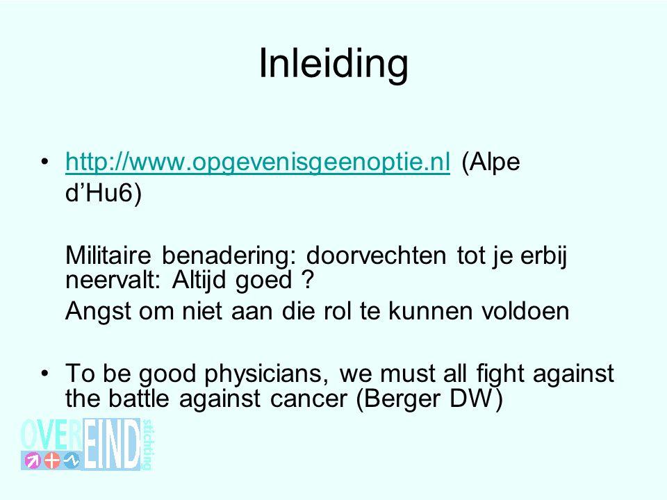 Inleiding http://www.opgevenisgeenoptie.nl (Alpe d'Hu6)