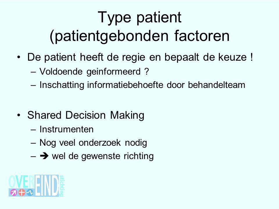 Type patient (patientgebonden factoren