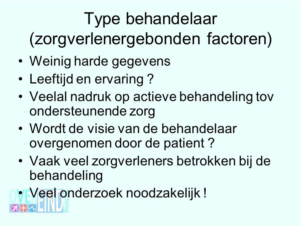 Type behandelaar (zorgverlenergebonden factoren)