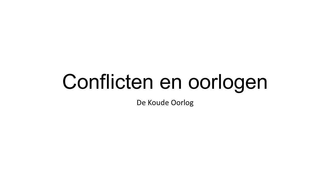 Conflicten en oorlogen