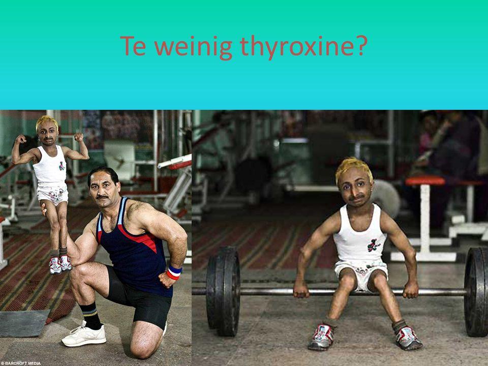 Te weinig thyroxine