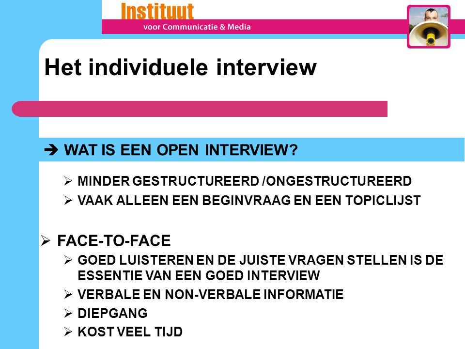 Het individuele interview