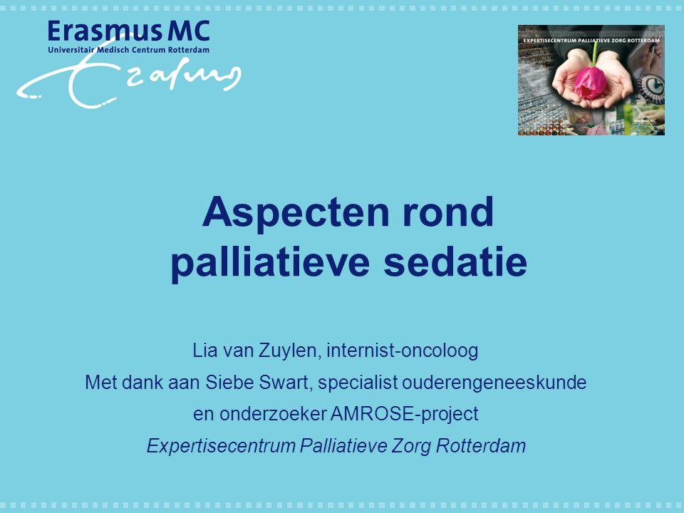 Aspecten rond palliatieve sedatie