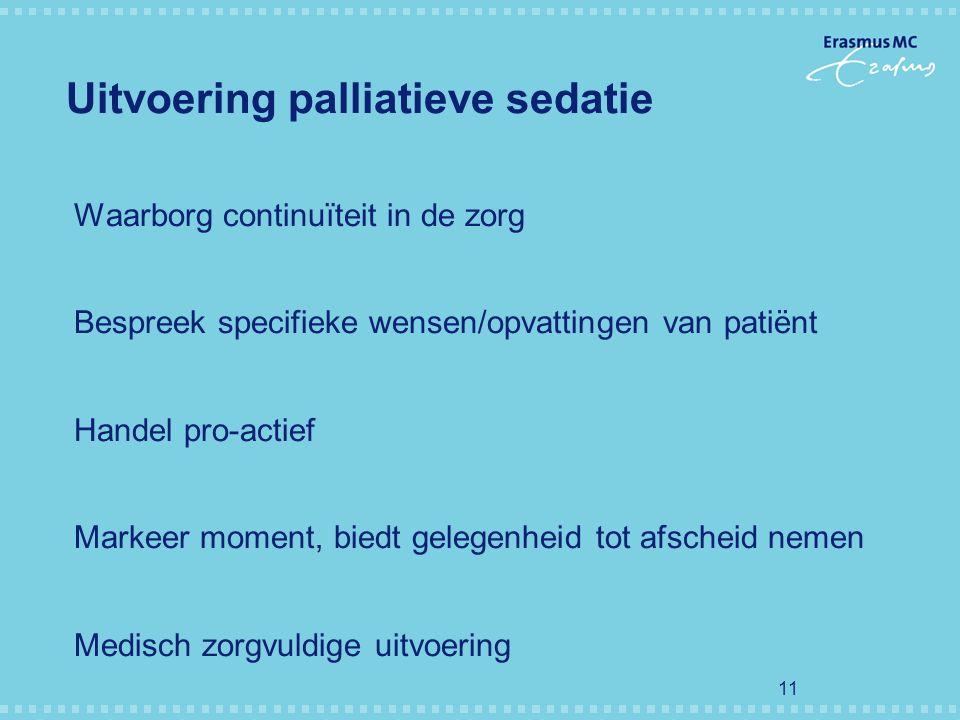 Uitvoering palliatieve sedatie