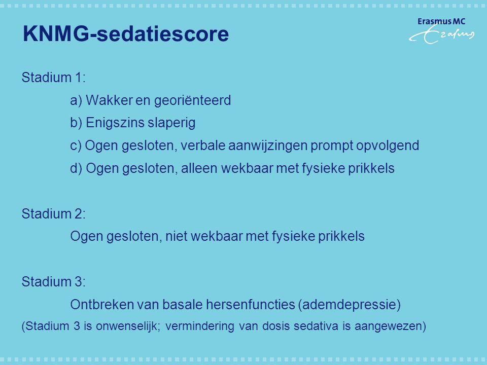 KNMG-sedatiescore Stadium 1: a) Wakker en georiënteerd
