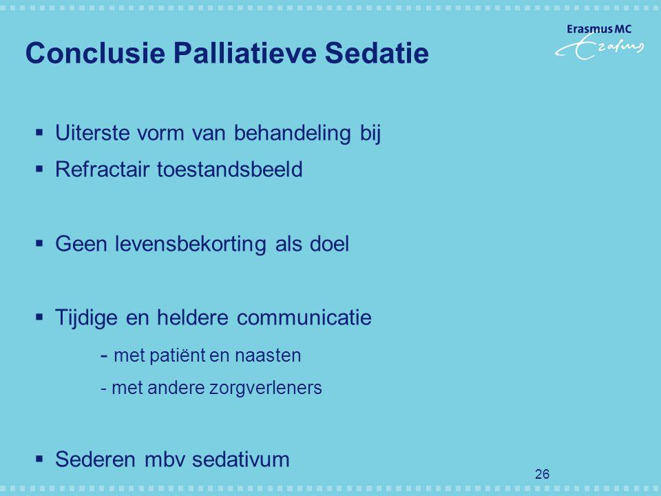 Conclusie Palliatieve Sedatie