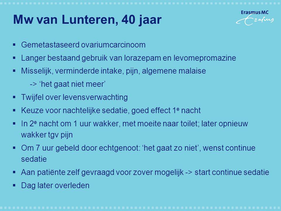 Mw van Lunteren, 40 jaar Gemetastaseerd ovariumcarcinoom