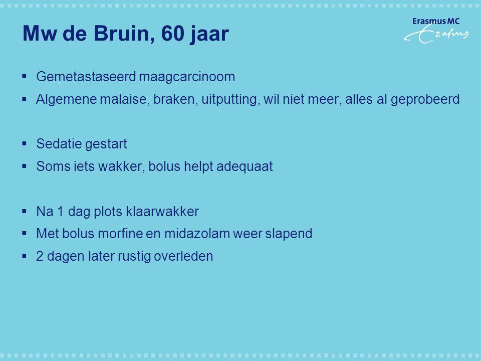 Mw de Bruin, 60 jaar Gemetastaseerd maagcarcinoom