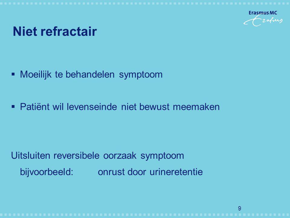 Niet refractair Moeilijk te behandelen symptoom