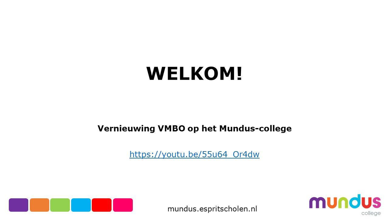 Vernieuwing VMBO op het Mundus-college https://youtu.be/55u64_Or4dw
