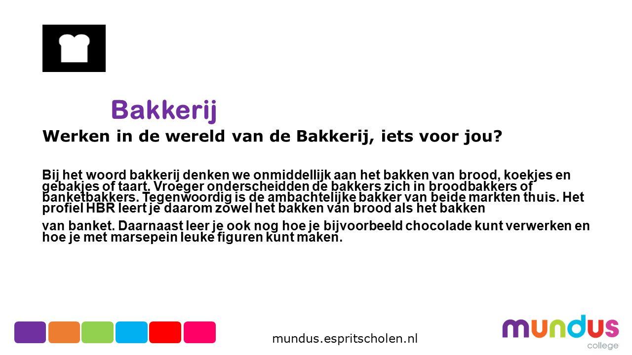 Bakkerij Werken in de wereld van de Bakkerij, iets voor jou